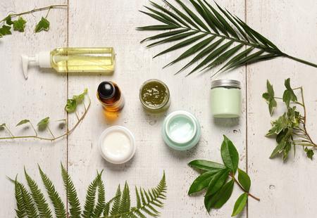 Foto de green cosmetics composition - Imagen libre de derechos