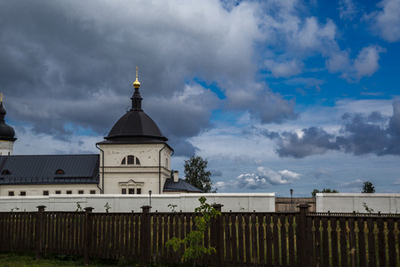 Ancient church in the old monastery on the island city of Sviyazhsk