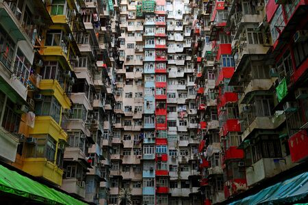 Photo for Old public populated housing estates in Hong Kong, China - Royalty Free Image