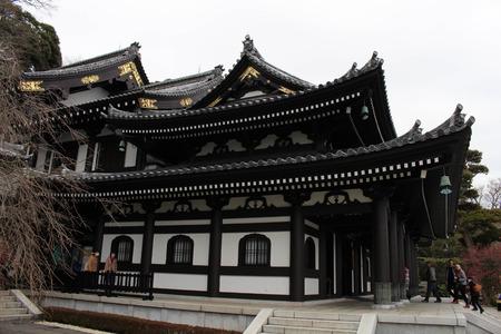 Translation: Hase-dera or Hase-Kannon Buddhist Temple in Kamakura. Taken in Kanagawa, Japan - February 2018.