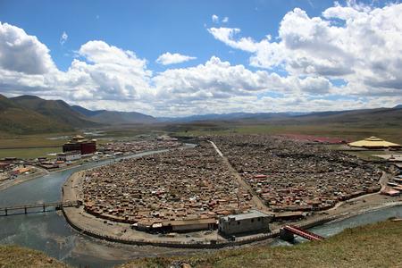 Around the Yarchen Gar (Yaqen Orgyan Temple) in Amdo Tibet, China. Taken in March 2015