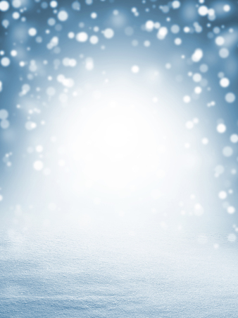 Photo pour Winter christmas background with shiny snow and blizzard - image libre de droit