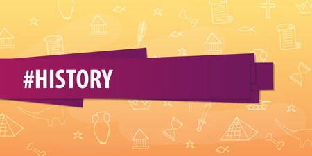 History Subject Back To School Background Education Banner Royalty Free Vector Graphics