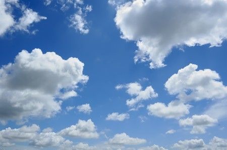 Photo for Clouds on Blue Sky, good for background - Royalty Free Image