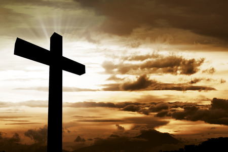 Photo for Wooden christian cross. Religious concept image - Royalty Free Image
