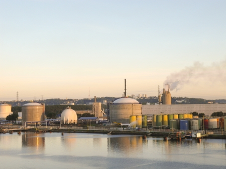 chemical plant in the harbour of le havre