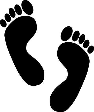 Illustration for Footprints - design elements  image - Royalty Free Image