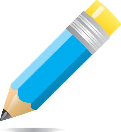Illustration pour Color pencil isolated on white background Illustration  - image libre de droit