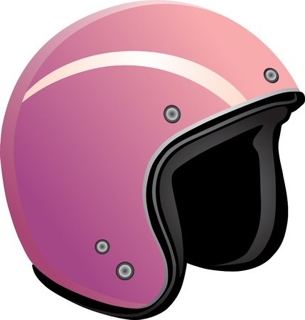 Protective helmet for a snowboard on a white background