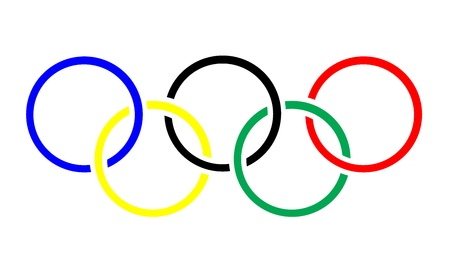 Olympic rings symbol or icon