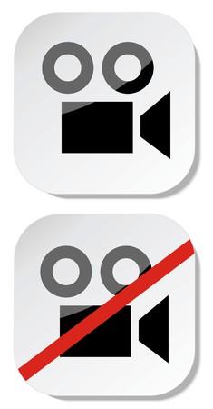 No camera sticker sign eps 10