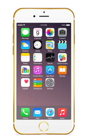 Iphone 6 plus goldのeditorial素材