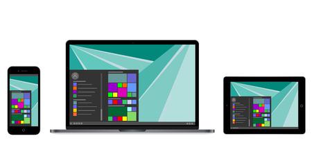 Vector illustration of modern laptop computer screen, vector illustration