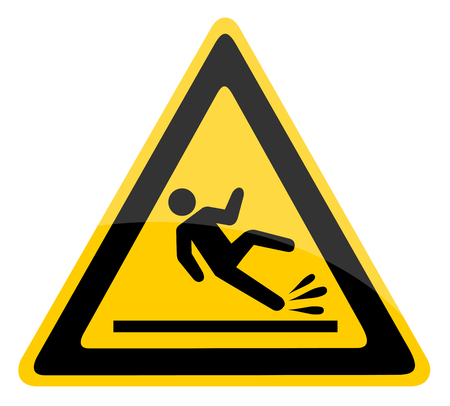 Ilustración de Wet floor warning sign. - Imagen libre de derechos