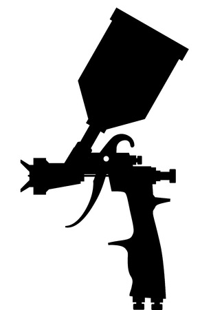 Ilustración de Paint spray gun black vector eps 10 - Imagen libre de derechos