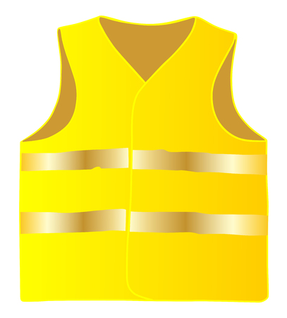 Ilustración de Safety vest isolate on white background vector eps 10 - Imagen libre de derechos