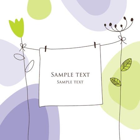 Illustration pour Greeting card - image libre de droit