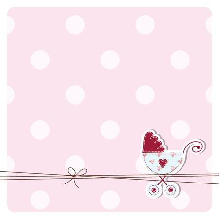 Illustration pour Baby shower invitation card  - image libre de droit