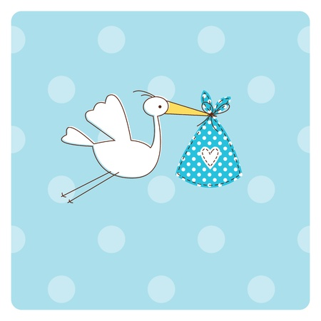Illustration for Baby shower invitation card  - Royalty Free Image