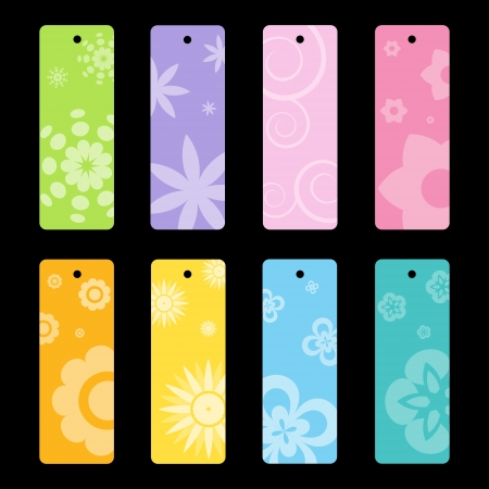 Set of colorful vector tags