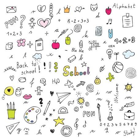 Illustration for Back to school - design elements - Royalty Free Image