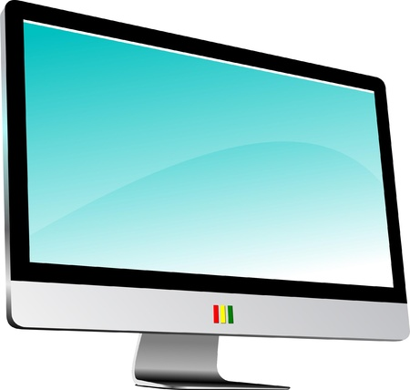 Flat computer monitor.