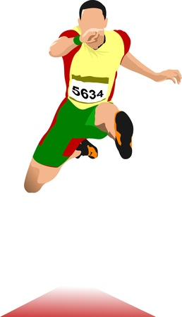 Foto de Man long jump. Sport. Track and field. - Imagen libre de derechos