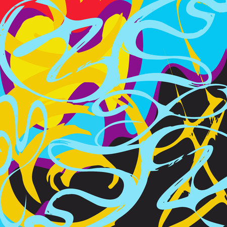 Foto de Graffiti Abstract beautiful colorful background grunge texture illustration - Imagen libre de derechos