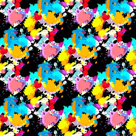 Illustration for colorabstract ethnic seamless pattern in graffiti style with elements of urban modern style bright quality illustration for your design - Royalty Free Image
