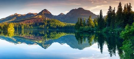 Photo for Mountain lake in National Park High Tatra. Strbske pleso, Slovakia, Europe. Beauty world. - Royalty Free Image