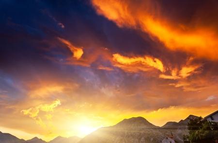 Beautiful nature background. Colorful sunset. Beauty world.