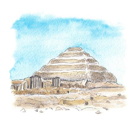 Photo pour Egyptian pyramid of Djoser - image libre de droit