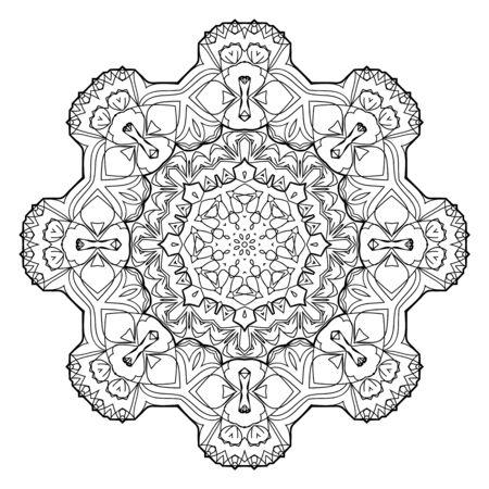 Illustration pour Flower Mandala. Vintage decorative elements. - image libre de droit