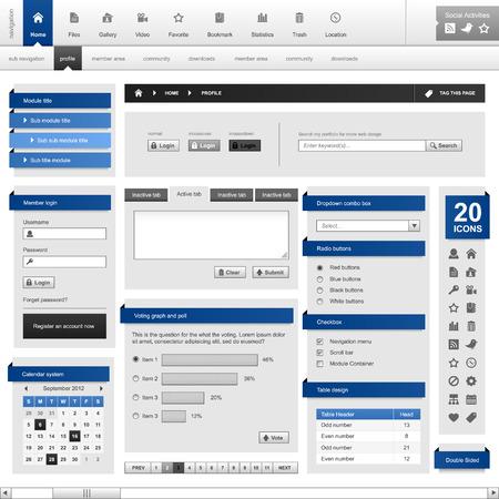 Illustration pour Web Design Element Frame Template - image libre de droit