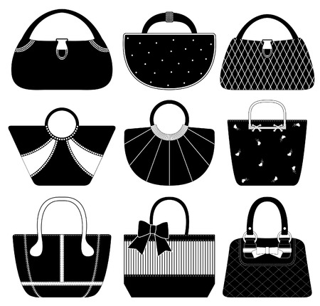 Illustration pour Female Bag Handbag Purse Fashion Woman - image libre de droit