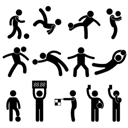 Ilustración de Football Soccer Goalkeeper Referee Linesman Icon Symbol Sign Pictogram - Imagen libre de derechos