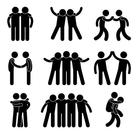 Friend Friendship Relationship Teammate Teamwork Society Icon Sign Symbol Pictogram