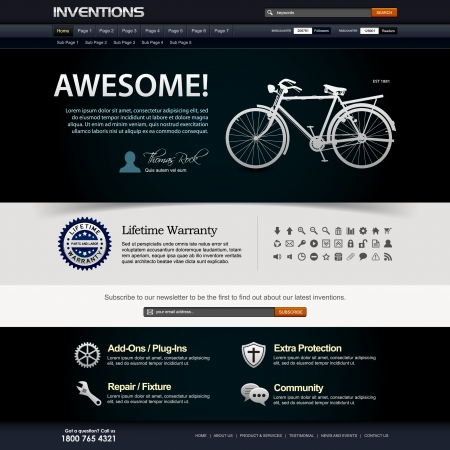 Web Design Website Elements Template