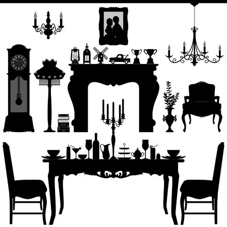 Dining Area Traditional Old Antique Furniture Interior Design