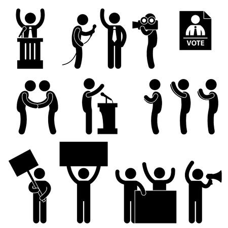 Politic Politician Reporter Journalist Vote Speech Supporter Citizen Unhappy Protester Election Campaign