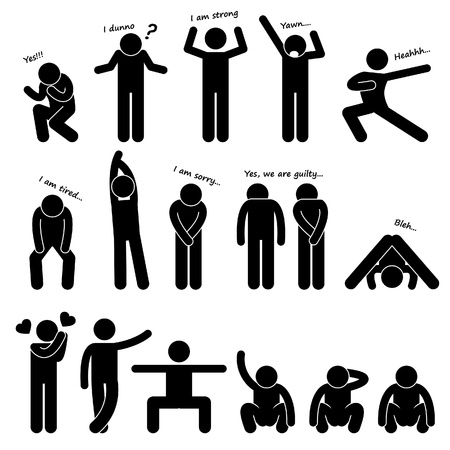 Man People Person Basic Body Language Posture Stick Figure Pictogram Icon