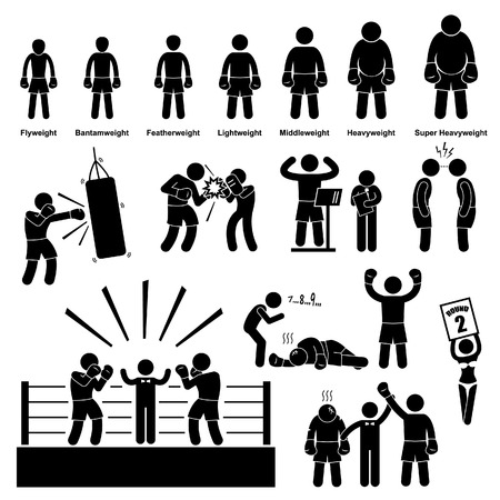Boxing Boxer Stick Figure Pictogram Icon