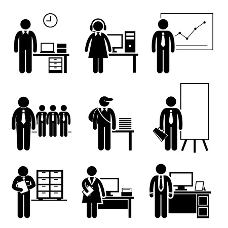 Office Jobs Occupations Careers - Staff Employee, Help Desk Support, Analyst, Runner, Manager, Marketing, Auditor, Secretary, CEO