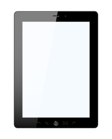 Vector stylish tablet PC with isolated background