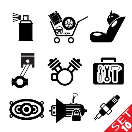 Car part icon set 10  Vector Illustration EPS8