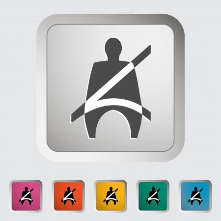 Seat belt. Single icon
