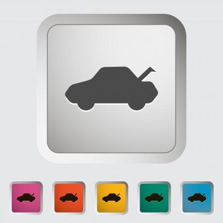 Tailgate. Single icon. Vector illustration.