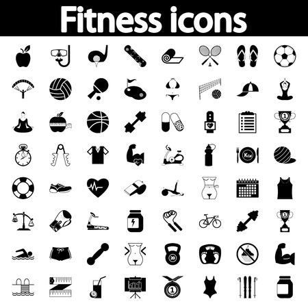 Ilustración de Professiona fitnessl icons for your website. Vector illustration. - Imagen libre de derechos