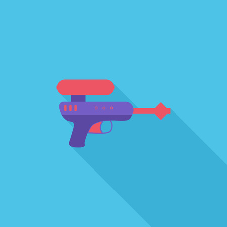 Gun toy icon. Flat vector related icon with long shadow for web and mobile applications.