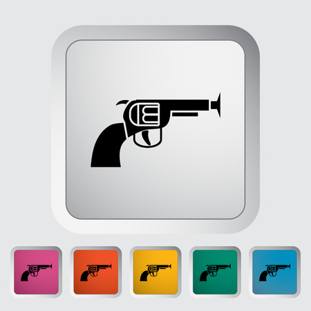 Gun toy icon. Flat vector related icon for web and mobile applications.